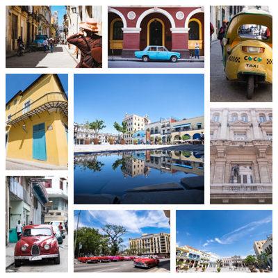 コラージュ写真(キューバ)